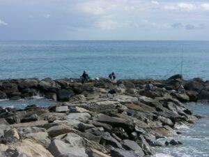 Bordighera. Lieblingsplatz der Angler. Urlaub an der italienischen Riviera in Ligurien