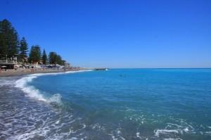 Bordighera am Strand von Lungo Mare Argentina.Urlaub an der italienischen Riviera im Ferienhaus in Ligurien