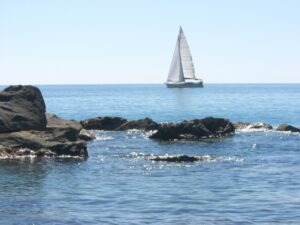 Bordighera. Im Urlaub an der italienischen Riviera im Ferienhaus bei Dolceacqua in Ligurien..