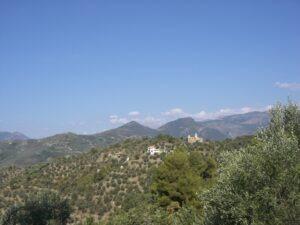 """Aussicht vom Ferienhaus """"Casa Rochin"""" bei Dolceacqua. Urlaub an der italienischen Riviera in Ligurien"""