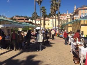 Der Freitagsmarkt in Menton an der Côte d'Azur