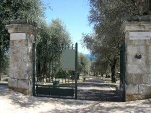 Menton. Parc du Pian. Im Urlaub an der italienischen Riviera in Ligurien.