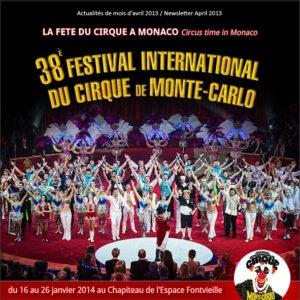 Monte Carlo 38. Zirkusfestival. Im Urlaub an der italienischen Riviera in Ligurien