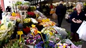 Ventimiglia Blumenstand in der Markthalle