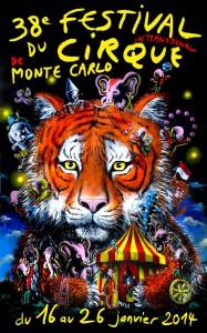 Monte Carlo Zirkusfestival im Januar 2014. Urlaub an der italienischen Riviera im Ferienhaus bei Dolceacqua in Ligurien