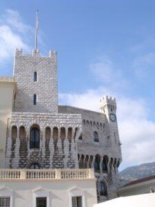 Fürstentum Monaco. Schloss. Im Urlaub an der italienischen Riviera in Ligurien