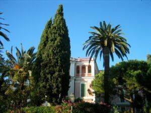 Bordighera. Villa Romana.Urlaub an der italienischen Riviera im Ferienhaus in Ligurien