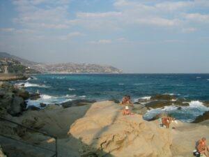 Cap Ampelio Bordighera, italienische Riviera, mit Blick auf San Remo
