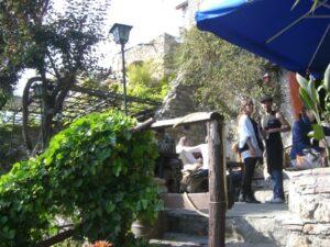 Bussana Vecchia. Urlaub in Ligurien an der italienischen RivieraKaffeepause