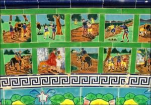 Menton. Jardin Fontana Rosa. Rotonde de Cervantes. Urlaub an der italienischen Riviera im Ferienhaus in Ligurien