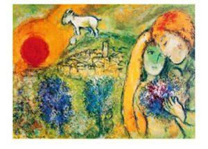 """Saint-Paul de Vence. Marc Chagall """"Die Liebenden von Vence"""""""