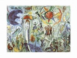 """Saint Paul de Vence.Gemälde """"La Vie"""" von Marc Chagall"""