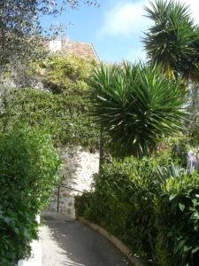 Roquebrune. Gärten. Urlaub an der italienischen Riviera in Ligurien