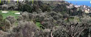 Circolo Golf degli Ulivi San Remo in Ligurien an der Blumenriviera
