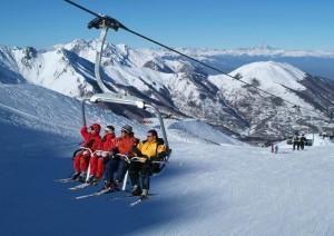 Limone. Riserva bianca. Skigebiet in den Seealpen nahe der ligurischen Küste