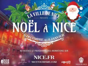Weihnachten in Nizza an der französischen Riviera