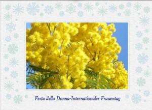 Mimosen zum Festa della Donna an der ligurischen Küste