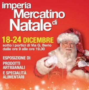 Weihnachtsmarkt in Imperial an der italienischen Riviera