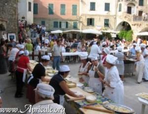 Apricale feiert das Fest der Pansarole