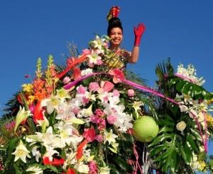 Blumenkorso in Nizza an der Côte d'Azur