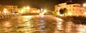 Hochwasser in Dolceacqua in Ligurien