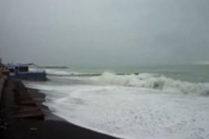 Sturmflut an der italienischen Riviera