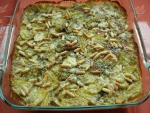 Kartoffelgratin mit Pesto