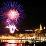 Menton. Feuerwerk Zitronenfest