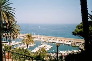 Bordighera der Hafen. Urlaub in Ligurien an der italienischen Riviera