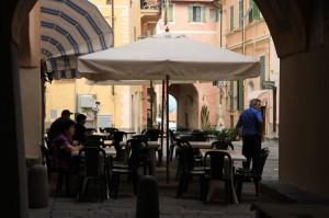 Die Altstadt von Bordighera an der italienischen Riviera in Ligurien