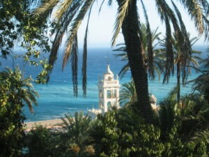 Bordighera. Die Villa Garnier. Urlaub an der italienischen Riviera in Ligurien
