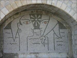 Menton. Musée du Bastion. Mosaik von Jean Cocteau. Urlaub an der italienischen Riviera im Ferienhaus bei Dolceacqua in Ligurien