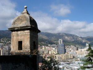 Monte Carlo. Blick vom Schloß, Urlaub an der italienischen Riviera im Ferienhaus in Ligurien