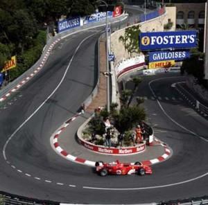 Monte Carlo, Rennstrecke Grand Prix. Im Urlaub an der italienischen Riviera in Ligurien