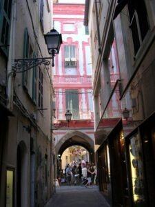 San Remo. Altstadt. Urlaub in Ligurien an der italienischen Riviera