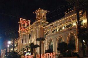San Remo. Casino. Urlaub an der italienischen Riviera in Ligurien