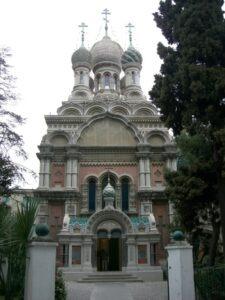San Remo, russisch-orthodoxe Kirche.Urlaub an der italienischen Riviera im Ferienhaus in Ligurien