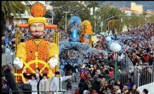 Menton. 81.Zitronenfest 2014. Urlaub an der italienischen Riviera in Ligurien