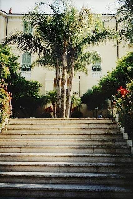 Bordighera an der italienischen Riviera. Hotel Villa Elisa