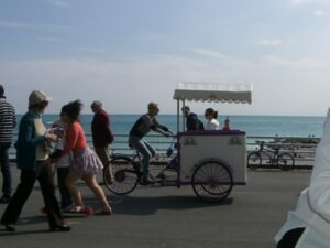 Bordighera, italienische Riviera, Liguriender autofreie Boulevard