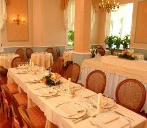 Das Restaurant von Villa Elisa