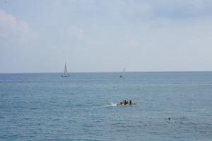 Bordighera, italienische Riviera, Ligurien, Badespass