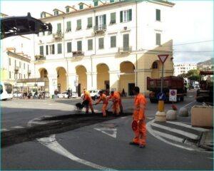 Imperia, Vorbereitungen für den Marathon Mailand-Sanremo am Samstag, den 16.03.2013