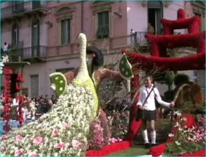 Blumenkorso Sanremo, Ligurien, italienische Riviera