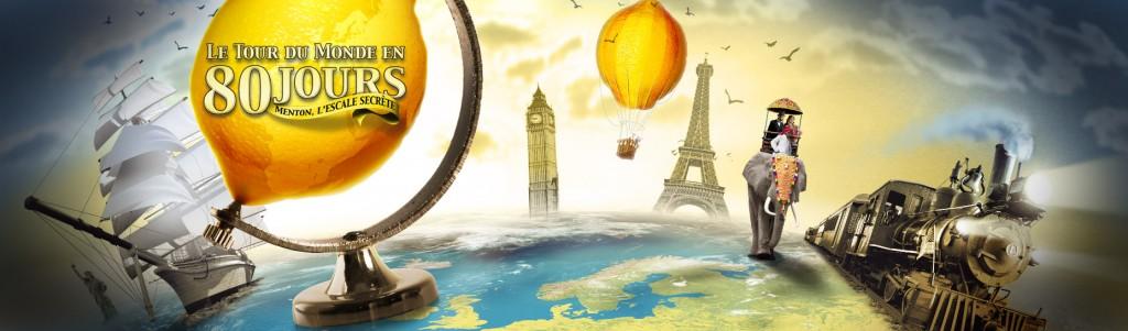 """80. Zitronenfest in Menton""""In 80 Tagen um die Welt"""""""
