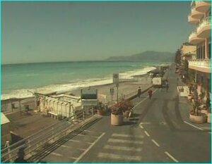Webcam Bordighera.Urlaub an der italienischen Riviera.