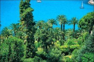 Menton. Jardin de la Villa Maria Serena, Urlaub an der italienischen Riviera im Ferienhaus bei Dolceacqua in Ligurien