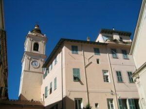 Bordighera an der italienischen Riviera in Ligurien. Centro Storico