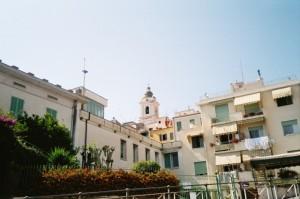 Bordighera. Vor der Altstadt. Urlaub an der italienischen Riviera im Hotel Villa Elisa in Bordighera an der Blumenriviera