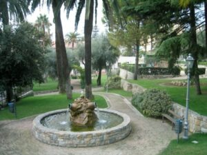 Bordighera. Giardini Monet. Urlaub an der italienischen Riviera in Ligurien